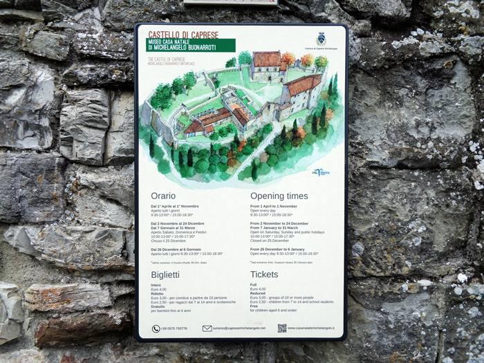 крепость в капрезе микеланджело - информация