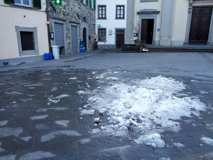 Пьеве Санто Стефано - снег