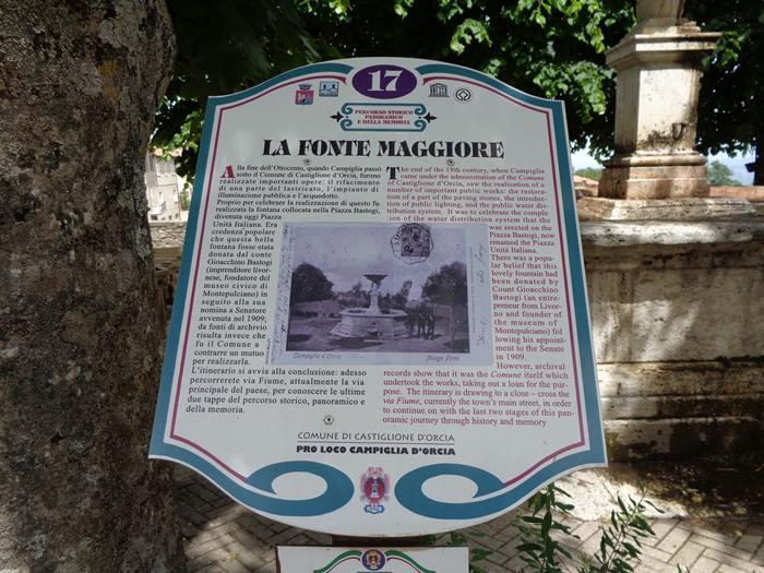 Кампилья д'Орча - информация о фонтане