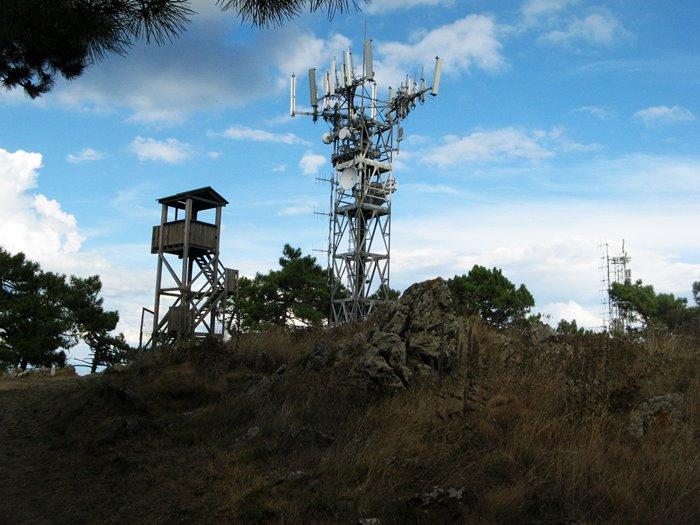 гора пероне - на вершине антенны