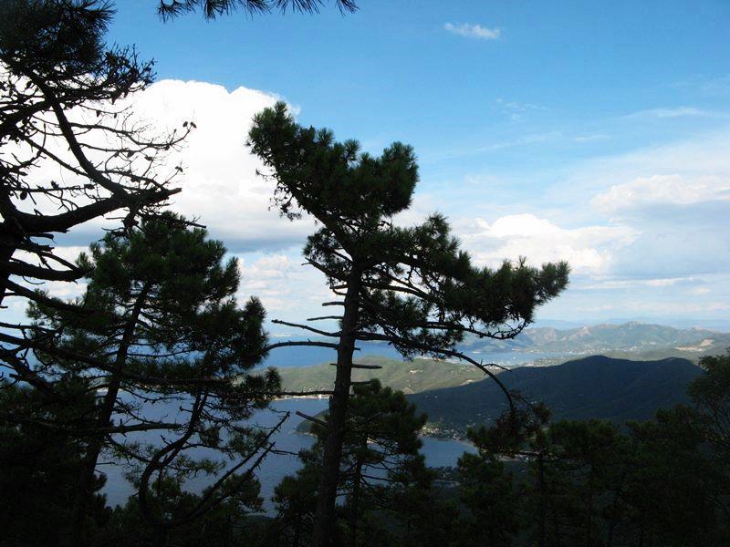 гора пероне - вид на побережье Эльбы