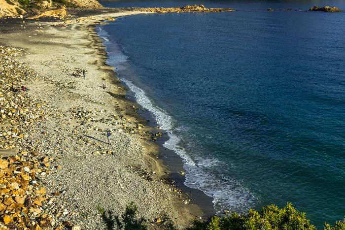 вид с высоты на пляж Канелло на Эльбе