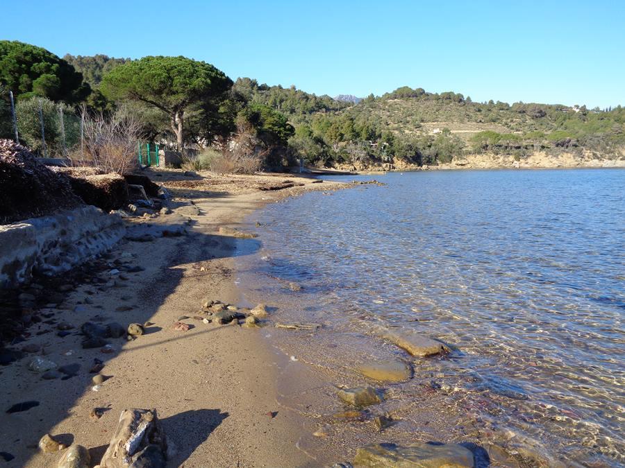 пляж Галензана - левая часть