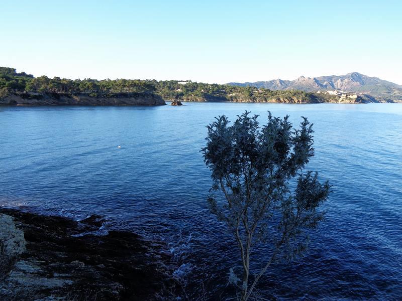 вид на море с левой части пляжа