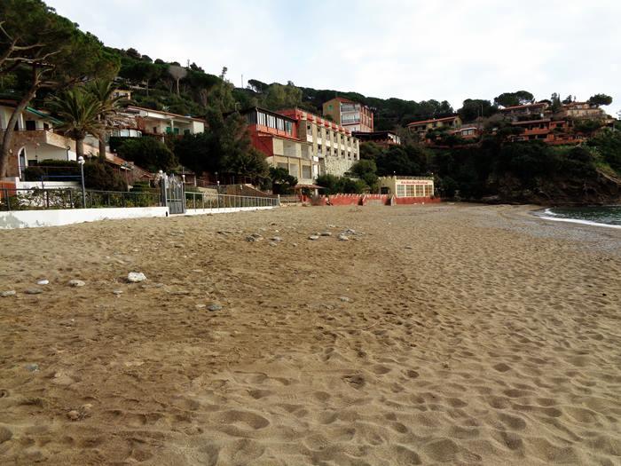 пляж Морконе - ширина