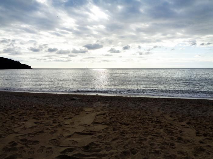 пляж Морконе в январе