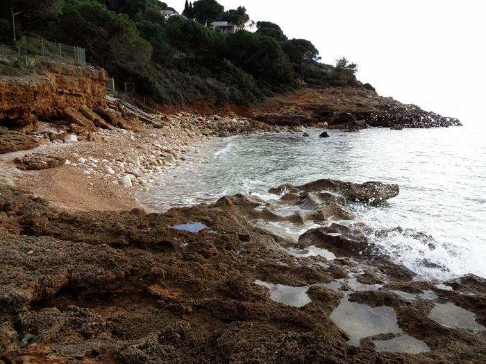 пляж Мадонна делле Грацие - левая сторона