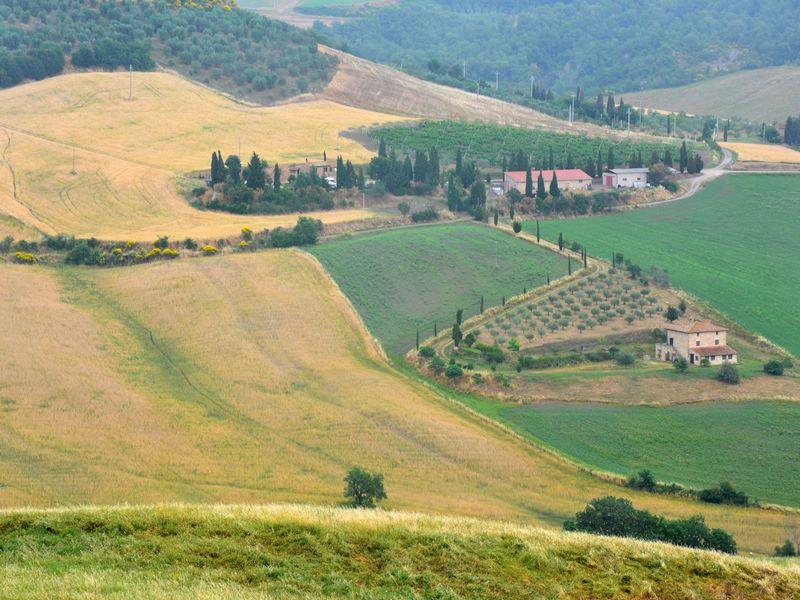 Просторы Тосканы и... виды, от которых дух захватывает