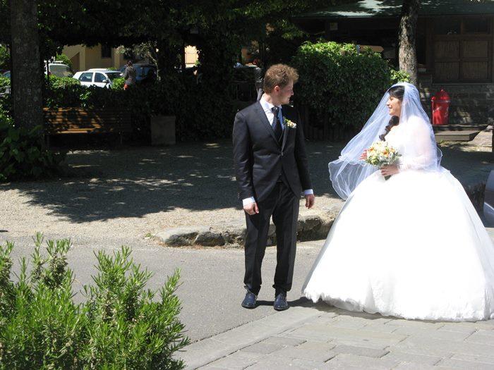 свадьба в Италии: жених встретил невесту