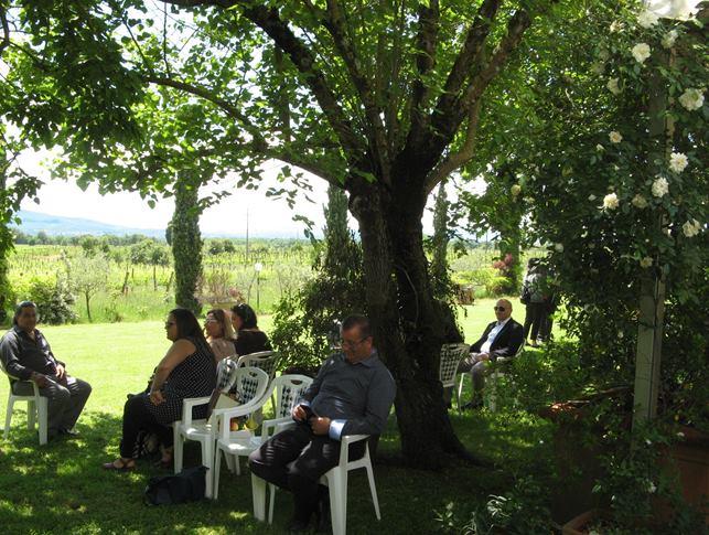 свадьба в Италии - перед свадебным обедом