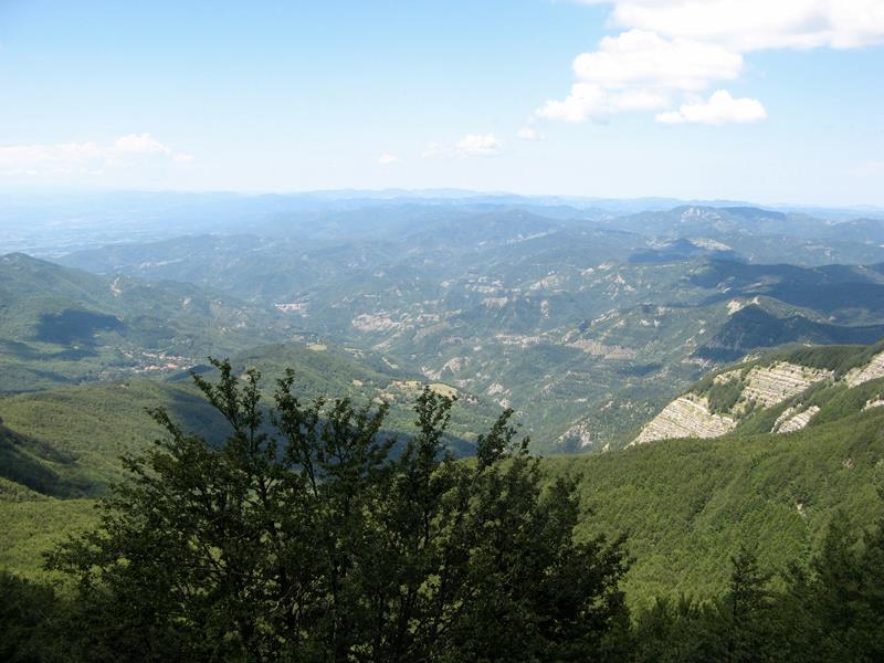вид на Тоскану с вершины горы