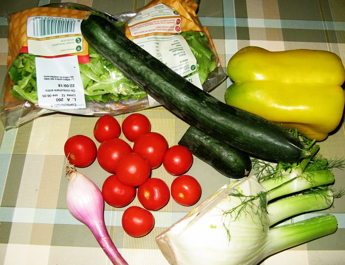 салат на скорую руку - овощи