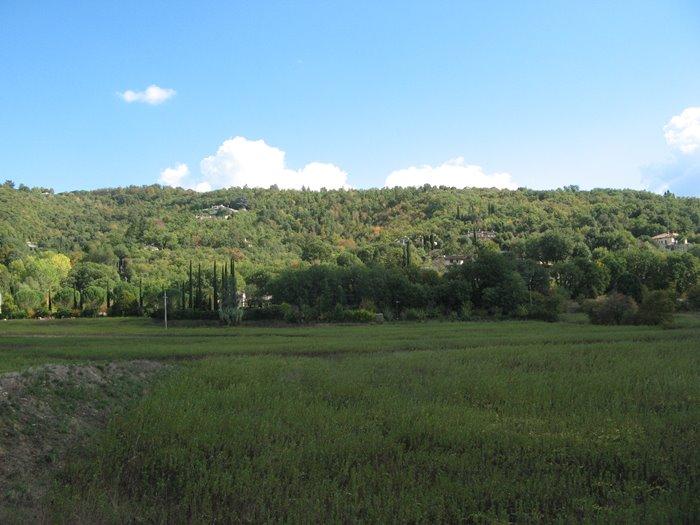 деревенский пейзаж в октябре