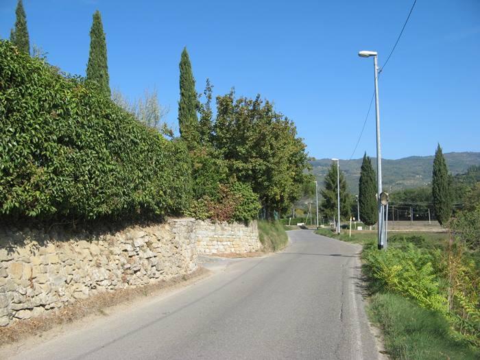 дорога в Тоскане в октябре 2018