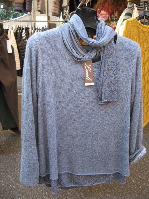 вещевой рынок в Италии - свитера