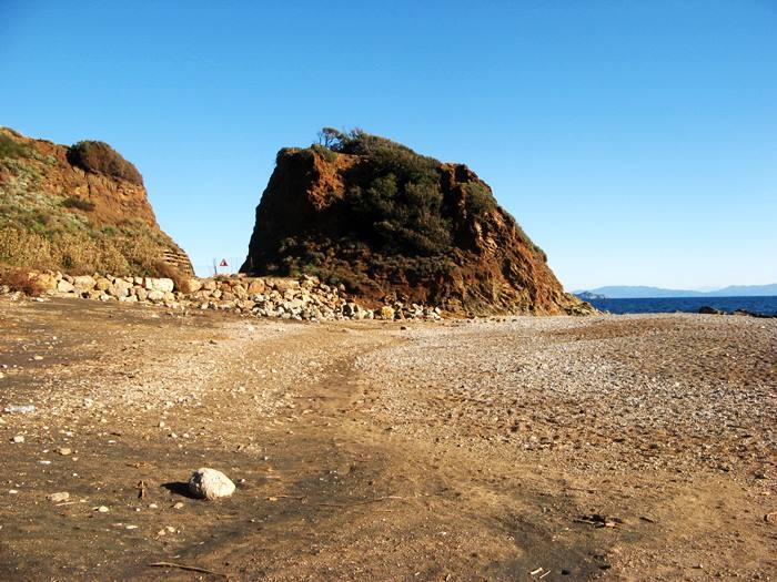вид на левую часть пляжа Кала Серегола