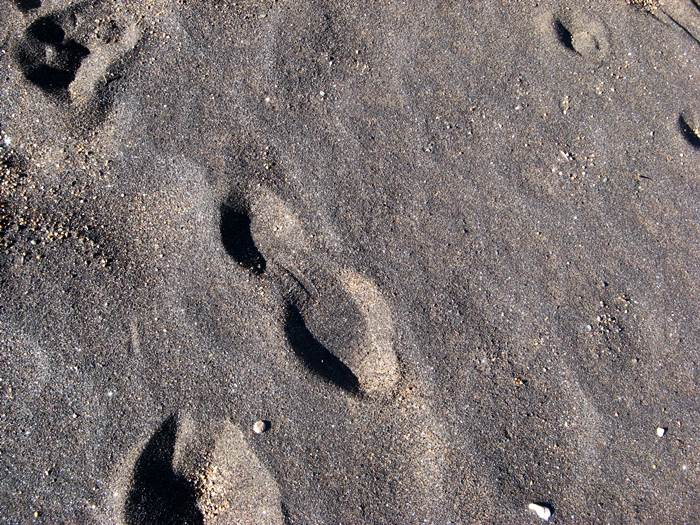 чёрный песок на пляже Кала Серегола