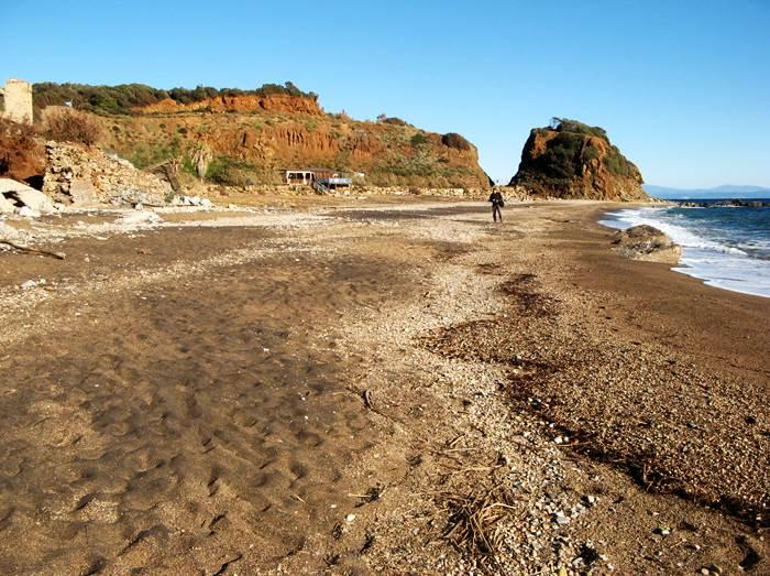 пляж Кала Серегола в январе