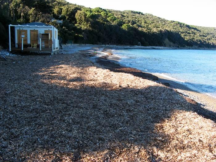 левая часть пляжа Фругозо