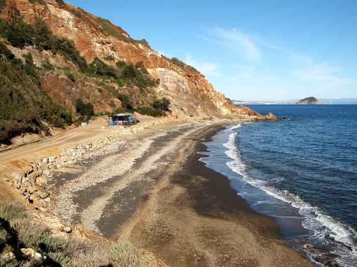 вид на пляж Топинетти