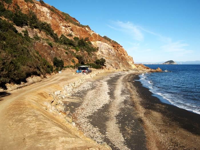 дорога на пляж Топинетти