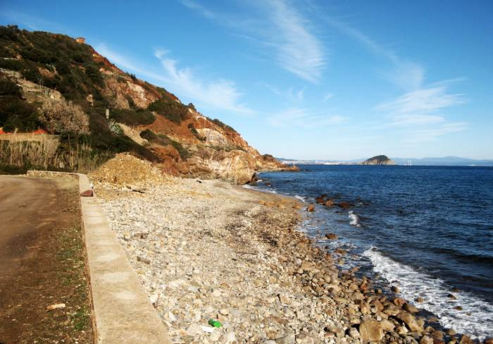 пляж Рипа Бьянка - левая сторона