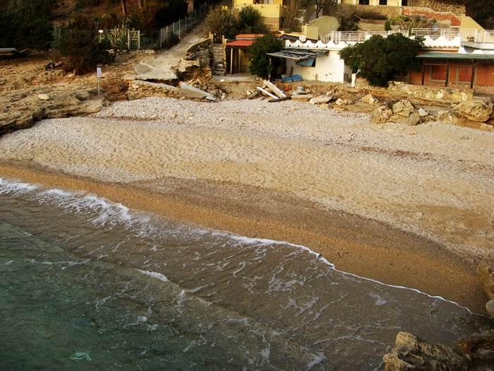пляж Стекки - вид с мола