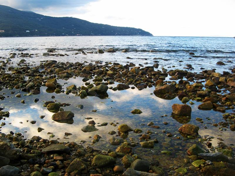 пляж Кампо аль Айя - море и камни
