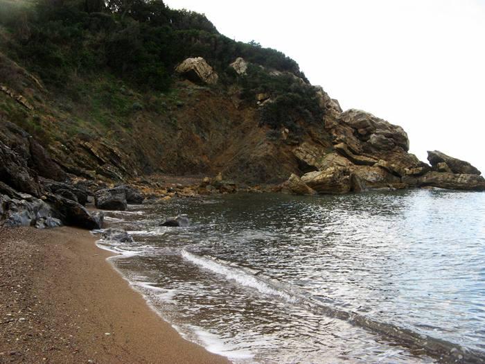 пляж Ниспортино - левая сторона