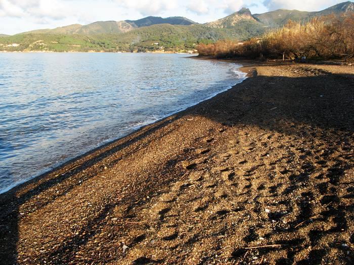 пляж Скиопарелло - правая сторона