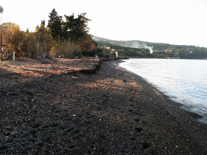 пляж Скиопарелло - левая часть пляжа