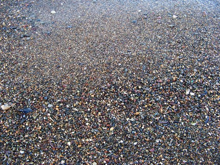 пляж Скиопарелло - камешки