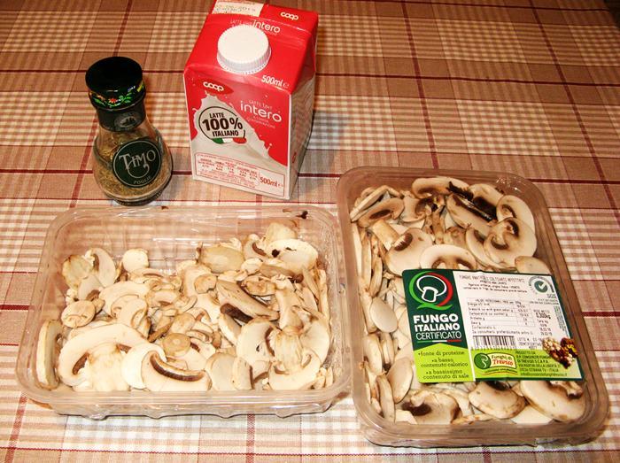 продукты для супа из шампиньонов