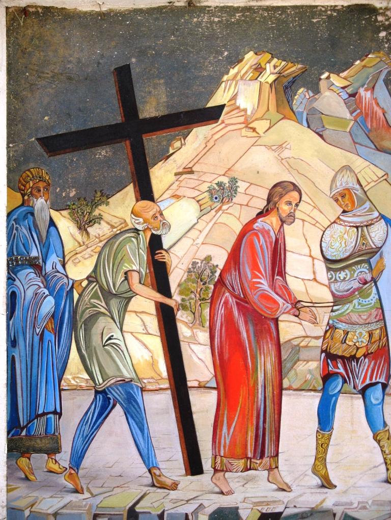 картины на пути к церкви Мадонна дель Монте