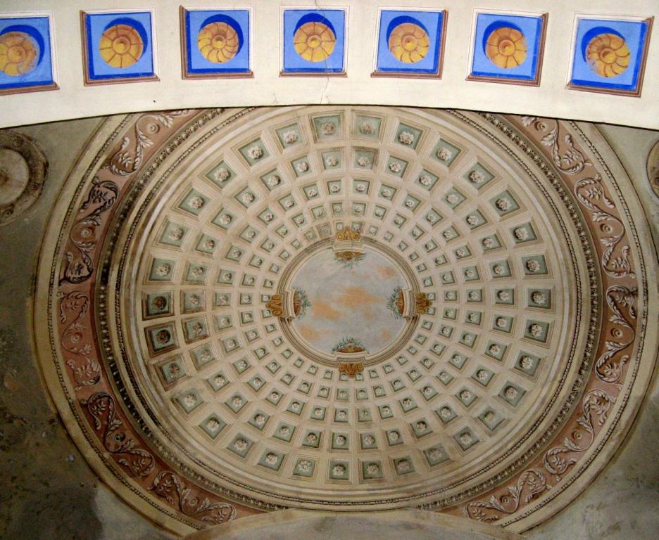 потолок в церкви Мадонна дель Монте