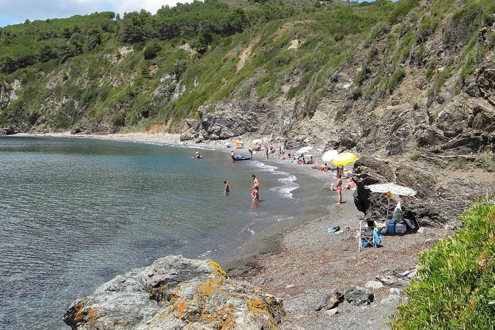 пляж в августе