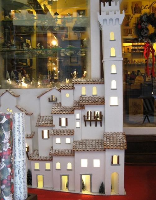 макет домов на Рождество