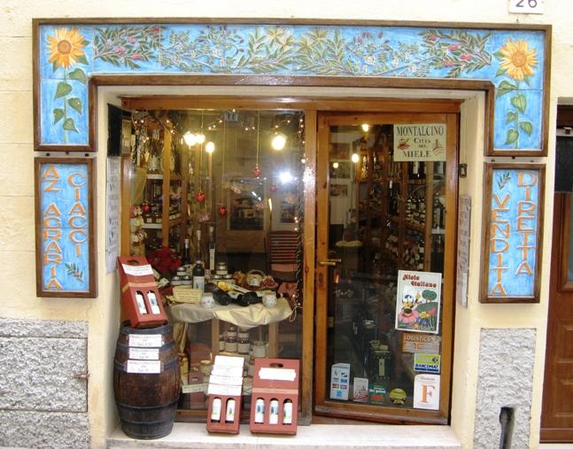 магазин с Брунелло ди Монтальчино
