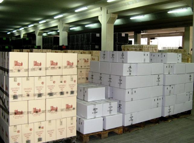 коробки с вином