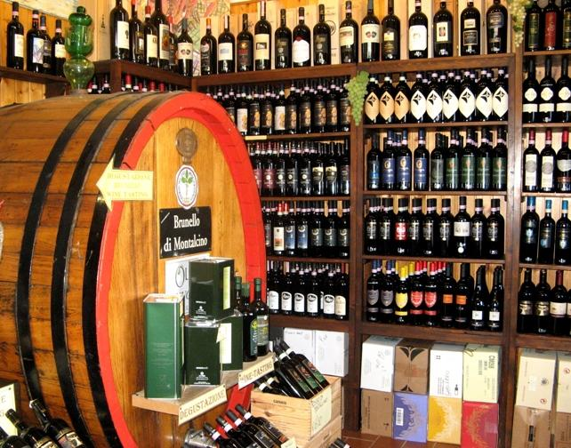 винный магазин в Монтальчино