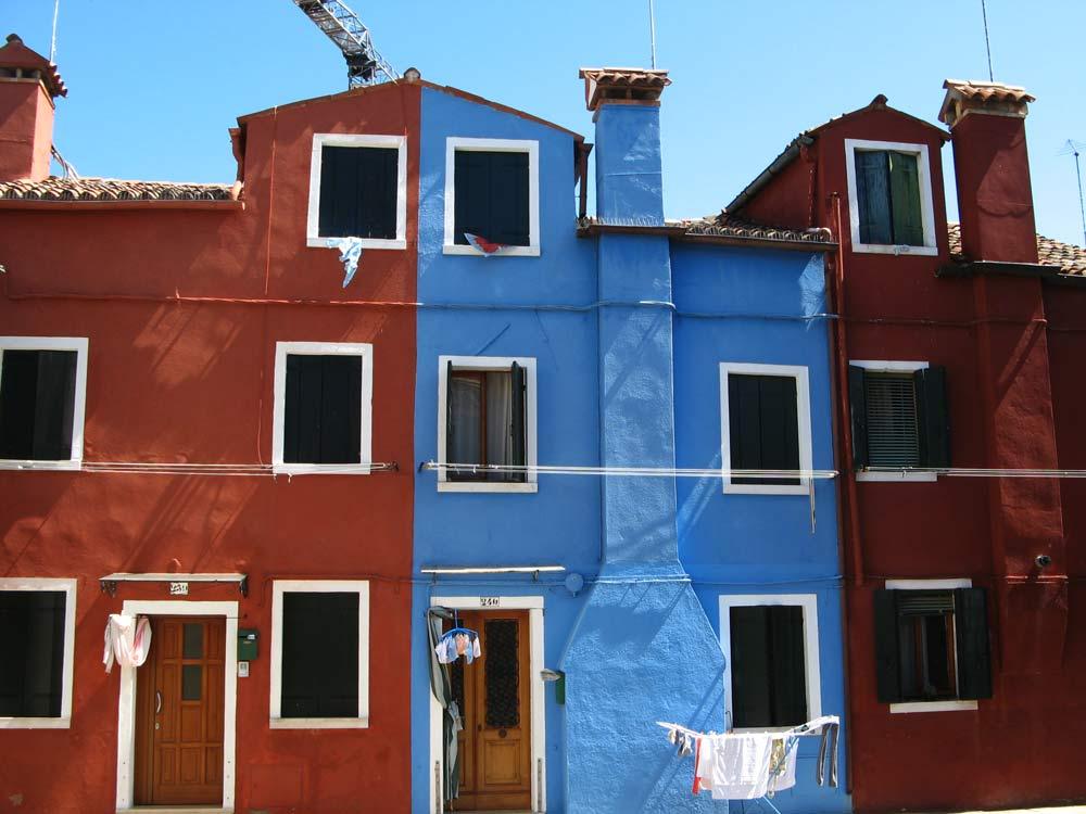 красно-голубой дом