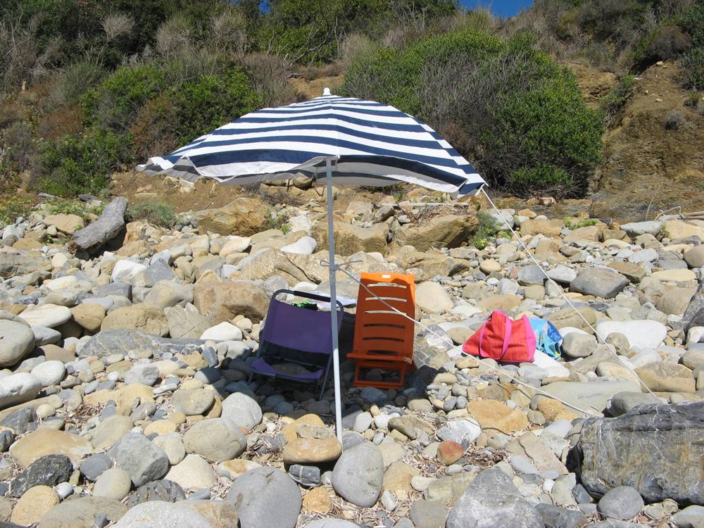 Пляж Гиаиэто - стоянка на пляже