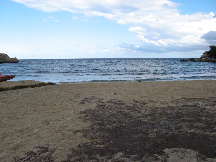 вид на море с пляжа Спартая