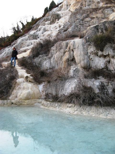 дикие термы в баньо Виньони