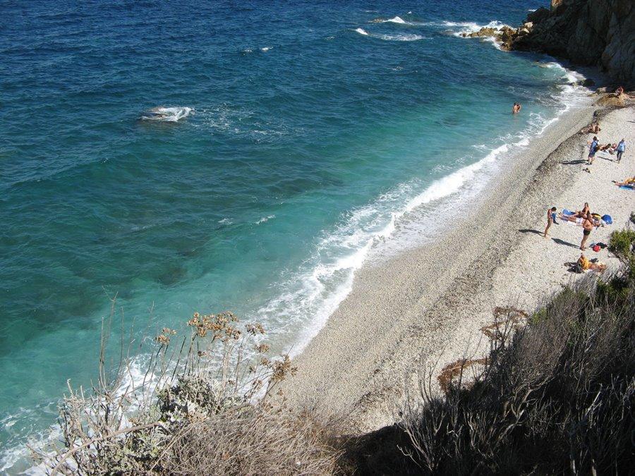 правая сторона пляжа Сансоне на Эльбе