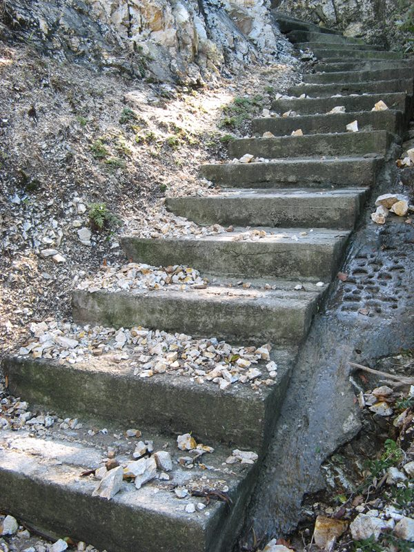 лестница, ведущая на пляж Соттобомба
