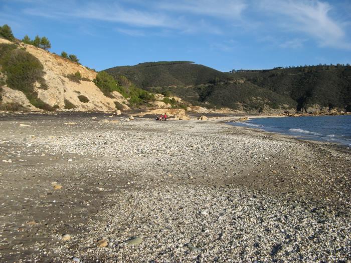 ширина пляжа Канелло на Эльбе