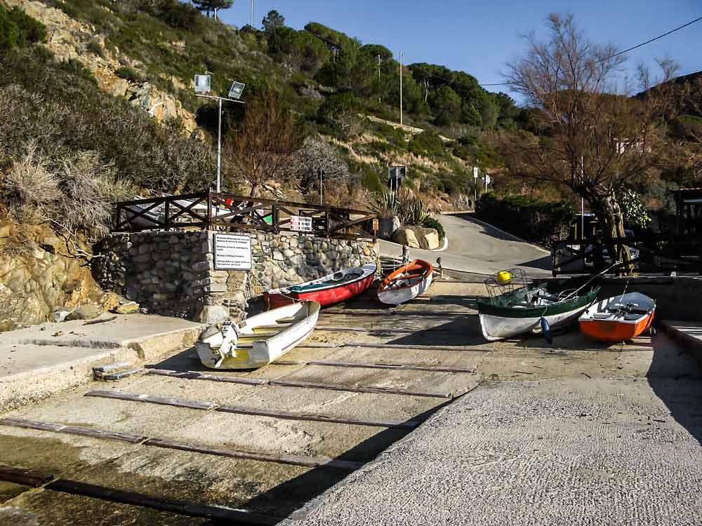 место для спуска лодок на воду
