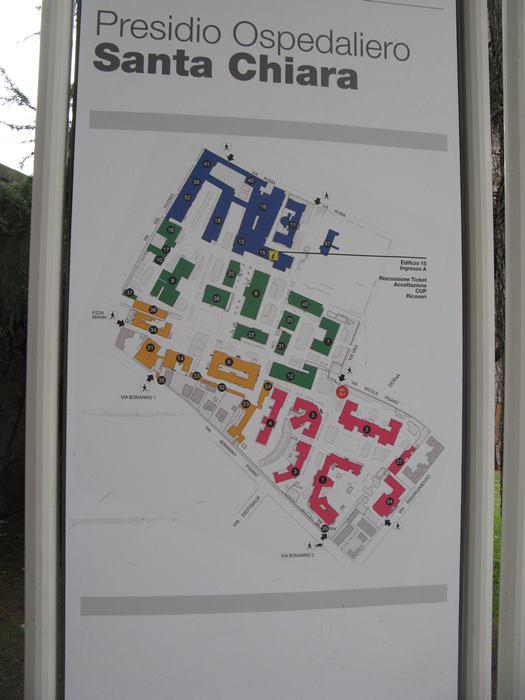 план больницы, Пиза, Тоскана, Италия