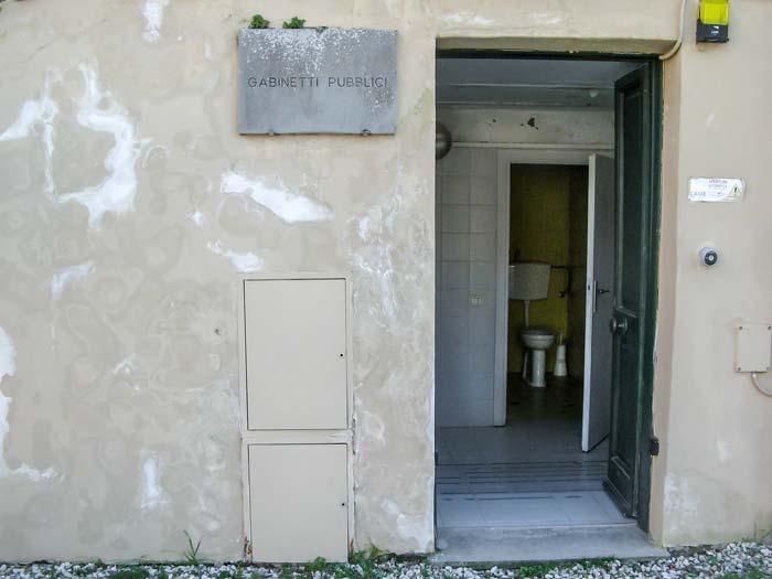 Сан Миниато: общественный туалет